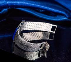 Piaget Piaget Lapis Large 1970s 18 Karat White Gold Diamond Bracelet Watch - 1142731