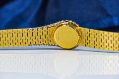 Piaget Rare 1970s Piaget Tiger Eye Diamond Set Limelight Yellow Gold Bracelet Watch - 1171555