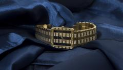 Piaget Rare Massive Piaget 18kt Onyx Diamond Set Tuxedo Dial Factory Wristwatch - 434929