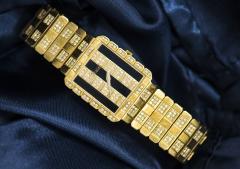 Piaget Rare Massive Piaget 18kt Onyx Diamond Set Tuxedo Dial Factory Wristwatch - 434931