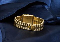 Piaget Rare Massive Piaget 18kt Onyx Diamond Set Tuxedo Dial Factory Wristwatch - 434932