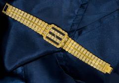 Piaget Rare Massive Piaget 18kt Onyx Diamond Set Tuxedo Dial Factory Wristwatch - 434933