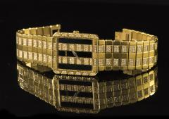 Piaget Rare Massive Piaget 18kt Onyx Diamond Set Tuxedo Dial Factory Wristwatch - 434934