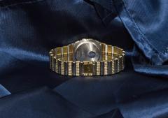 Piaget Rare Massive Piaget 18kt Onyx Diamond Set Tuxedo Dial Factory Wristwatch - 439891