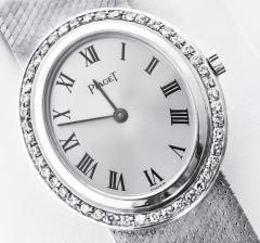 Piaget Rare Piaget 1970s Factory Diamond Set 18 KT White Gold WristWatch - 867432