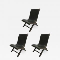 Pierre Lottier 3 Mid Century Modern Neoclassical Slipper Lounge Chairs Pierre Lottier 1940 - 1845764