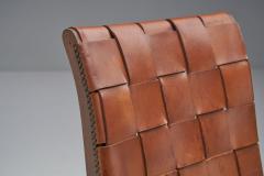 Pierre Lottier Mid Century Spanish Valenti Leather Chair by Pierre Lottier Spain 1950s - 2055285