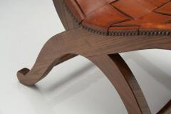 Pierre Lottier Mid Century Spanish Valenti Leather Chair by Pierre Lottier Spain 1950s - 2055287