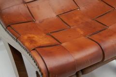 Pierre Lottier Mid Century Spanish Valenti Leather Chair by Pierre Lottier Spain 1950s - 2055296