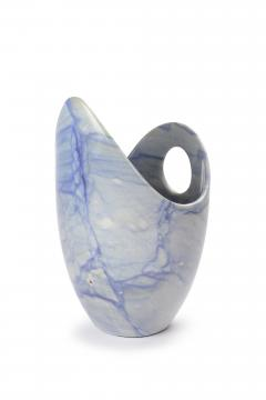 Pieruga Marble Champagne bucket ice bucket sculpture vase in Azul Macaubas blue hand carved - 1451169