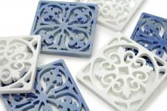 Pieruga Marble Coaster hand curved from block of Azul Macaubas by Pieruga Marble Made in Italy - 1637697