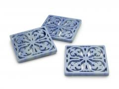 Pieruga Marble Coaster hand curved from block of Azul Macaubas by Pieruga Marble Made in Italy - 1637699