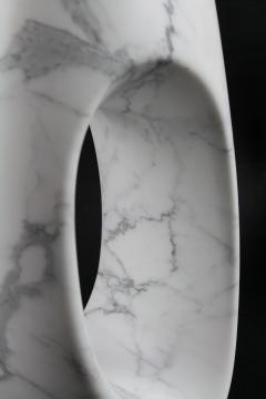 Pieruga Marble Vase sculpture in white Statuary marble carved by hand in Italy - 1451053
