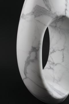 Pieruga Marble Vase sculpture in white Statuary marble carved by hand in Italy - 1451057