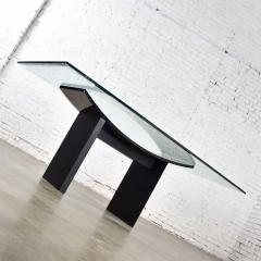 Pietro Costantini Dining table by pietro costantini black lacquer geometric inlay w glass top - 1881708