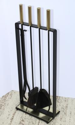 Pilgrim Manufacturing 1960s Modernist Brass Fireplace Tools By Pilgrim - 2046089