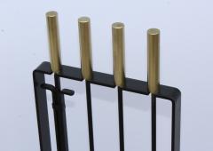 Pilgrim Manufacturing 1960s Modernist Brass Fireplace Tools By Pilgrim - 2046090