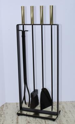Pilgrim Manufacturing 1960s Modernist Brass Fireplace Tools By Pilgrim - 2046092