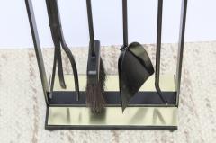 Pilgrim Manufacturing 1960s Modernist Brass Fireplace Tools By Pilgrim - 2046093