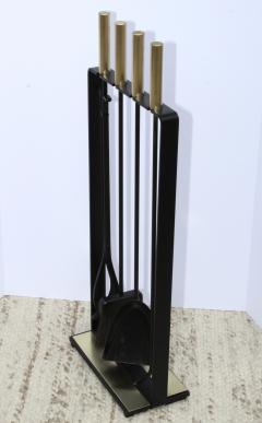 Pilgrim Manufacturing 1960s Modernist Brass Fireplace Tools By Pilgrim - 2046096