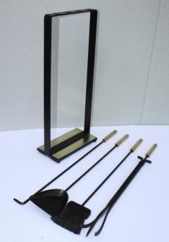Pilgrim Manufacturing 1960s Modernist Brass Fireplace Tools By Pilgrim - 2046099
