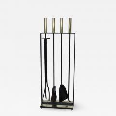 Pilgrim Manufacturing 1960s Modernist Brass Fireplace Tools By Pilgrim - 2047584