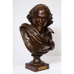 Pinedo Rare French Bronze Bust of William Shakespeare by Carrier Belleuse and Pinedo - 1110852