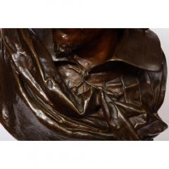 Pinedo Rare French Bronze Bust of William Shakespeare by Carrier Belleuse and Pinedo - 1110854