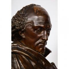 Pinedo Rare French Bronze Bust of William Shakespeare by Carrier Belleuse and Pinedo - 1110857