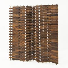 Poggi Paire of wood screen by Poggi circa 1960 - 1055967
