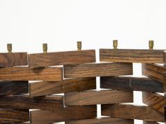 Poggi Paire of wood screen by Poggi circa 1960 - 1055969