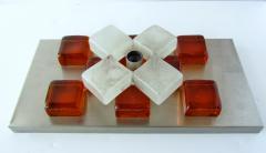 Poliarte A Companion Pr Italian Modern Brushed Chrome and Glass Wall Lights Poliarte - 1323032
