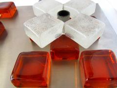 Poliarte A Companion Pr Italian Modern Brushed Chrome and Glass Wall Lights Poliarte - 1323033