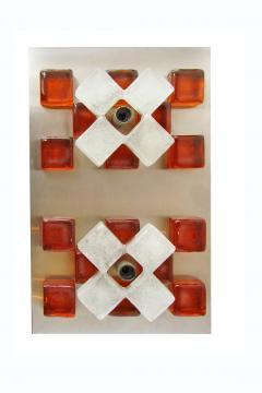 Poliarte A Companion Pr Italian Modern Brushed Chrome and Glass Wall Lights Poliarte - 1323036