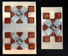 Poliarte A Companion Pr Italian Modern Brushed Chrome and Glass Wall Lights Poliarte - 1352162