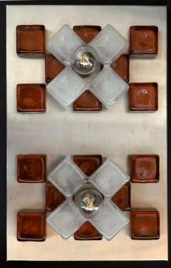 Poliarte A Companion Pr Italian Modern Brushed Chrome and Glass Wall Lights Poliarte - 1352164