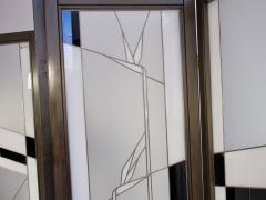 Poliarte Art Deco Style Wood and Leaded Glass Screen by Poliarte - 1224077