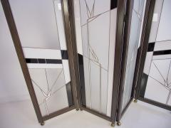 Poliarte Art Deco Style Wood and Leaded Glass Screen by Poliarte - 1224084
