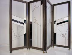 Poliarte Art Deco Style Wood and Leaded Glass Screen by Poliarte - 1224085