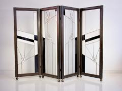Poliarte Art Deco Style Wood and Leaded Glass Screen by Poliarte - 1224094