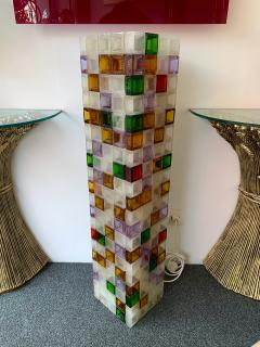 Poliarte Floor Lamp Glass Cube by Poliarte Italy 1970s - 1258530