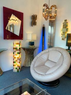 Poliarte Floor Lamp Glass Cube by Poliarte Italy 1970s - 1258534