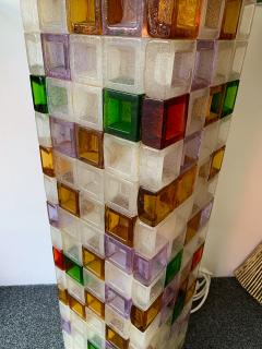 Poliarte Floor Lamp Glass Cube by Poliarte Italy 1970s - 1258538