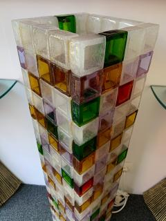 Poliarte Floor Lamp Glass Cube by Poliarte Italy 1970s - 1258539