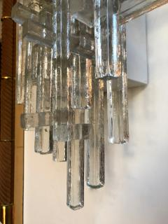 Poliarte Pair of Glass Metal Sconces by Poliarte Italy 1970s - 787805