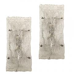 Poliarte Pair of Large Organic Glass Wall or Ceiling Lights by Poliarte - 603081