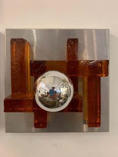 Poliarte Pair of Poliarte Italian Murano Glass 1960s Wall Lights - 1626033