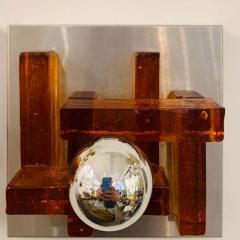 Poliarte Pair of Poliarte Italian Murano Glass 1960s Wall Lights - 1626034