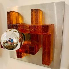 Poliarte Pair of Poliarte Italian Murano Glass 1960s Wall Lights - 1626037