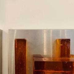 Poliarte Pair of Poliarte Italian Murano Glass 1960s Wall Lights - 1626048